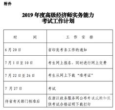 2019年度浙江省高级经济师